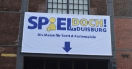 Spiel doch! in Duisburg 2018: Banner über dem Eingang zur Begrüßung